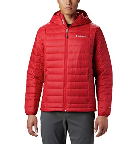 Columbia Men's Voodoo Falls 590 TurboDown Hooded Jacket, Mountain Red, X-Large