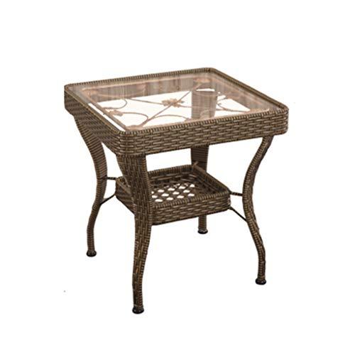 LSX - salontafel kleine salontafel, kleine tafel balkon kleine salontafel ruimte eenvoudig, modern gehard glas vrije tijd (3 kleuren, 2 maten) bijzettafel
