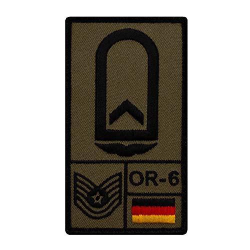 Café Viereck ® Feldwebel Luftwaffe Bundeswehr Rank Patch mit Dienstgrad - Gestickt mit Klett – 9,8 cm x 5,6 cm