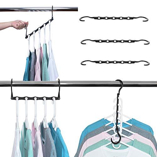 Space Saver Hangers for Smart Closet Organizer 16 Black