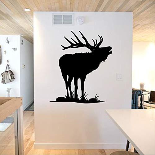Hetingyue muurstickers met hertenkunst, hert, decoratie voor thuis, woonkamer, muursticker van vinyl afneembaar