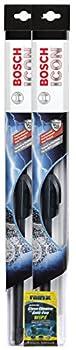 Bosch 22  ICON Wiper Blade Bundle with Rain-X Glass Cleaner Wipe  3 Items