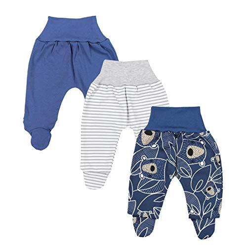 TupTam Baby Jungen Strampelhose mit Fuß 3er Pack, Farbe: Farbenmix 5, Größe: 68