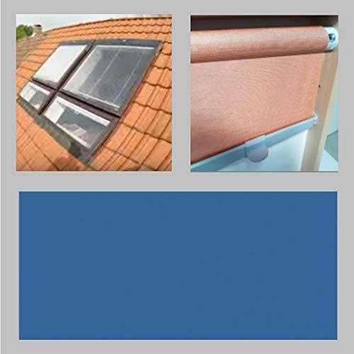 generisch Thermo-Abdunkelungs-Rollo für BRAAS Atelier_Dachfenster_BA/DA, Bauj. 1976-1986_Mittelblau 142.59 (70/140)