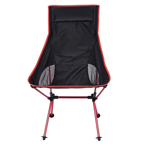 LLSS Outdoor Fishing Chair Large Back Folding Ultra Light Portable Moon Chair For Beach Camping Picnic
