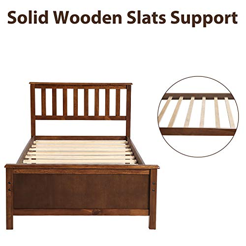 Twin Bed Frame Wood Platform Bed With H Buy Online In Botswana At Desertcart
