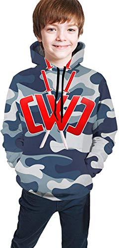 ANTOUZHE Kapuzenpullover Jungen Mädchen Chad Wild Clay Youth Boys Girls 3D Print Pullover Hoodies Hooded Seatshirts Sweater childen's Casual Tops