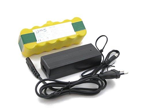 Hochwertiger Hannets Akku und Ladegerät kompatibel mit iRobot I Batterie i-Robot Roomba Battery Akkupack Roboterstaubsauger Staubsaugroboter Ersatzteil I Roomba Zubehör 3500 mAh Akku Saugroboter Ersatzakku 14,4 V