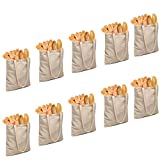 "Canvas Tote Shopping Bags 10pack 16.5""X14"" foldable Large grocery With Reusable Cotton Storage Washable Biodegradable Eco-Friendly"