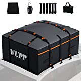 WUPP Car Rooftop Cargo Carrier Bag, Expandable 15 to 19 Cubic Feet Waterproof Roof Rack Bag with Anti-Slip Mat, 600D Oxford Heavy Duty Soft Car Roof Bag for All Vehicle with/Without Rack