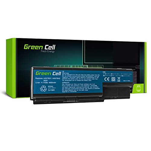 Green Cell Standard Series Battery for Acer Aspire 5220 5230 5300 5310 5315 5320 5520 5530 5710 5720 5720Z 5730ZG 5739 5739G 5920 5920G 5930 Laptop (6 Cells 4400mAh 10.8V Black)