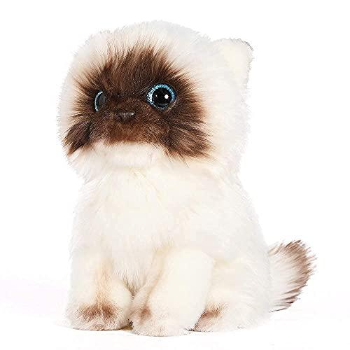 Muiteiur Siamese Cat Stuffed Animal Realistic Plush White Cat Doll Cute and Cuddle Plush Gift for Girlfriend Kids,10.2 Inch