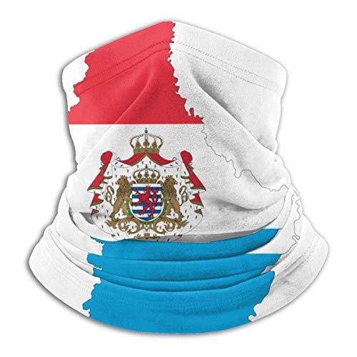 MJDIY Neck Warmer, Luxemburg Kaart Vlag 12-In 1 Hoofddeksel,Leuke Hoofdbanden Voor Motorskiën Vissen,26x30cm