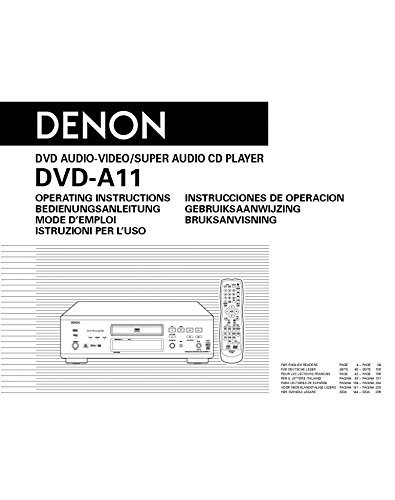 Denon DVD-A11 Universal Player Owners Instruction Manual Reprint [Plastic Comb]