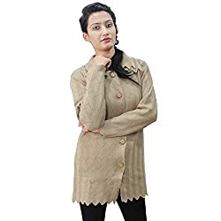 Matelco Womens Wool Long Cardigan with Collars