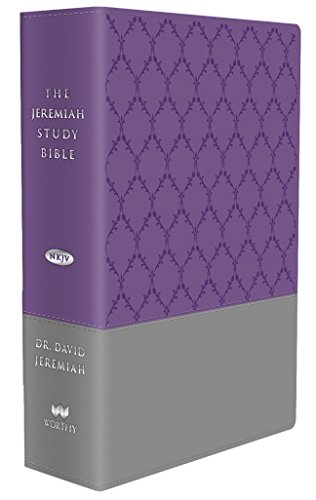 The Jeremiah Study Bible Purple/Gray Burnished Leatherluxe Thumb Index Edition: What It Says. What It Means. What It Means for You.