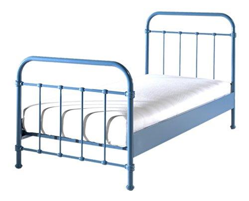 Metallbett Louis 90*200 cm weiß inkl Lattenrahmen Kinderbett Jugendliege Bettliege Bett Jugendzimmer Kinderzimmer Jugendbett