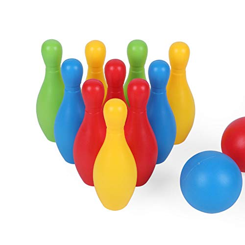 KingbeefLIU Kinder Kinder Bowling Pins Bälle Lernspielzeug Geschenk Familie Indoor Puzzle Spiel Workout Zu Hause Kinder Spielen Haus Früh, Um Spaß Spielzeug Zu Unterrichten Bowlingkugel