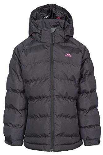 Trespass Kid's Amira Warm Padded Waterproof Winter Jacket, Black, Size 2/3...
