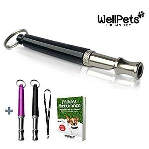 WellPets | Sifflet à ultrasons pour chien | Fréquence réglable | Haute fréquence et silencieux | Idéal pour faire arrêter d'aboyer et contrôler le chien | Idéal pour le dressage des chiots et des chiens âgés | Sifflet pour chien professionnel de qualité |