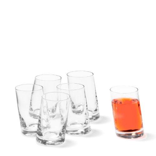 Leonardo Pisa Schnaps-Gläser, 6er Set, spülmaschinengeeignete Shot-Gläser, Schnaps-Becher aus Glas, Stamper, Gläser-Set, 5,5 cl, 55 ml, 035397