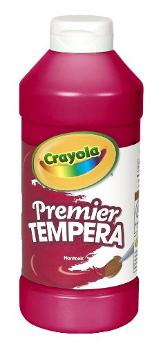 Crayola Tempera Paint, Red Kids Paint, 16oz, Pint (54-1216-038)