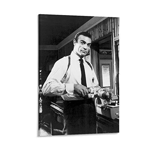 NQSB Film Stars Sean Connery 007 James Bond 13 31 Poster decorativo su tela da parete per soggiorno, camera da letto, 50 x 75 cm