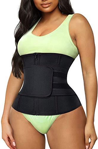 Gotoly Damen Korsett Taille Taille Taille Body Shaper Waist Trainer Verstellbare Körperformer Taillengürtel Taille Taille Taille Taille CCincher, Schwarz XL