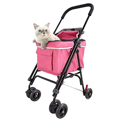 Dog/Cat/Pet Stroller Pet Stroller, Breathable Oxford Stroller Dog and Cat Foldable Pet Suitcase Can Accommodate 16Kg Out of Pet Car for Four Seasons Available for Small & Medium Large Pets