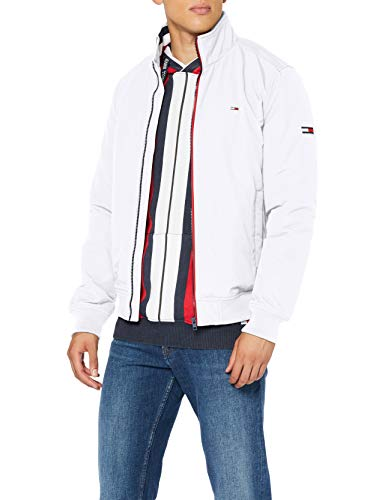 Tommy Jeans Herren TJM Essential Padded Jacket Jacke, Weiß (White), M