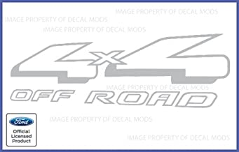 Decal Mods 4x4 Offroad for Ford Ranger Metallic Silver/Light Gray Decals Stickers - CMS (1997-2012) (Set of 2)