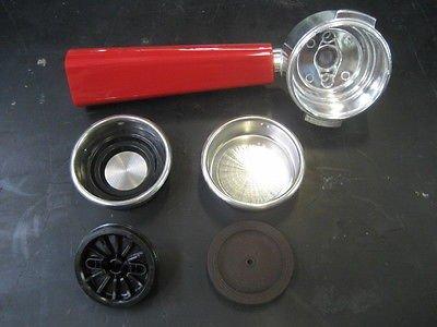 Elettrogea AT4056035800Soporte de filtro con mango rojo para cafeteras Ariete Caffè Retro