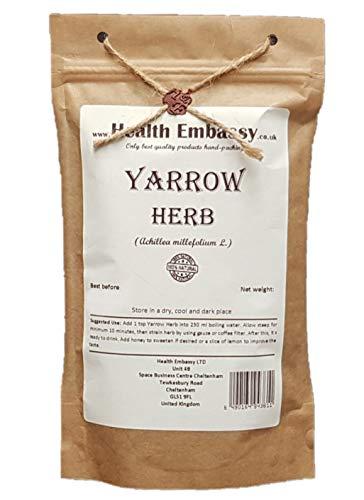 Gemeine Schafgarbe Kräutertee (Achillea millefolium L.) / Yarrow Herb Tea - Health Embassy - 100% Natural (100g)