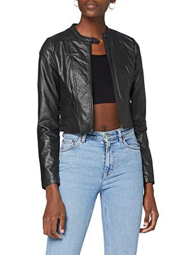 ONLY Damen ONLJULIETT Faux Leather Jacket KA OTW Jacke, Black, 36