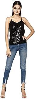 altmoda Women's Sequin Black Top