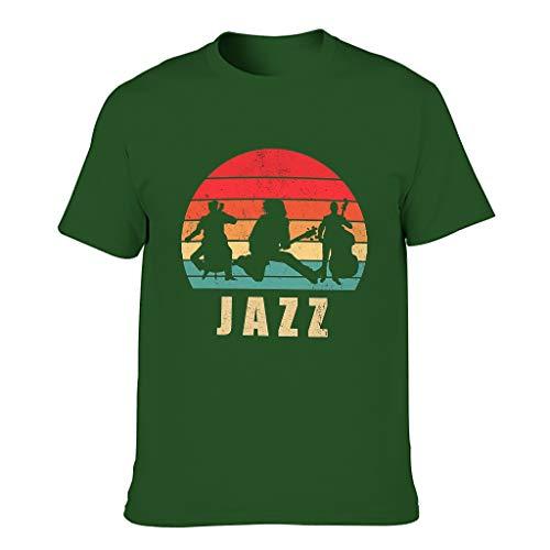 FFanClassic Camiseta de algodón para hombre Jazz Novedad Funny Ultra Soft - Camisa estampada