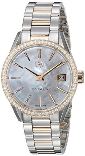 Tag Heuer Damen war1353. bd0774Carrera Analog Display Swiss Quartz Rose Gold Watch