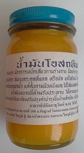 Bálsamo de hierbas tailandés 50 g, alivio del dolor de masaje 3 piezas, con 2 cucharas de servir.