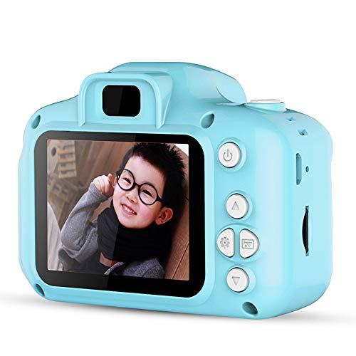 Mini Cámara de Fotos Digitales para Niños, 1080P HD Video Cámara Selfie 12MP Educativo USB Recargable 2 Pulgadas IPS Pantalla con Zoom 4X+8GB Tarjeta de Memori