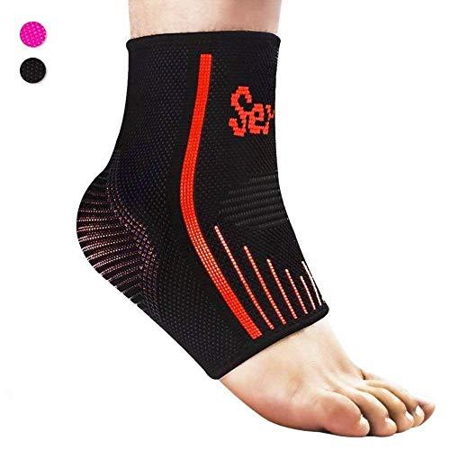 Senston Traspirante Ankle Support/Caviglia Cavigliera Compression Socks E Maniche,Tutore Per Fascite Plantare- Fornisce Il Supporto E La Facilità Dolori - S/M/L