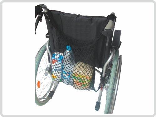 Einkaufsnetz für Rollstuhl, Rollator oder Gehgestelle, schwarz
