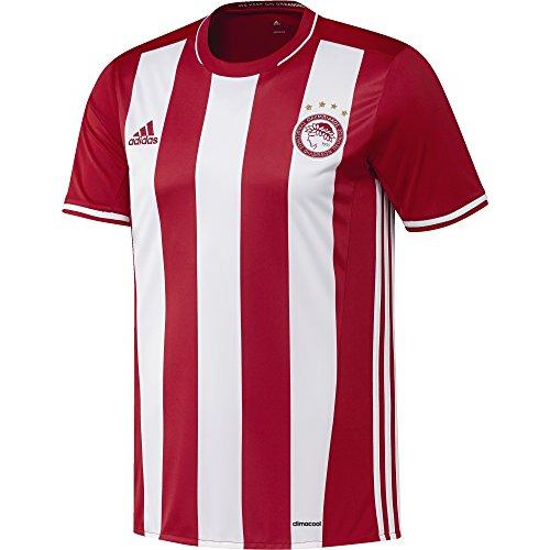 adidas Herren Olympiakos Piräus Heimtrikot, Scarlet/White, S