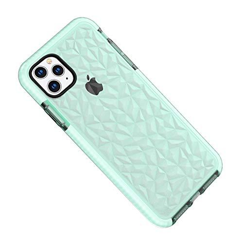Desconocido Funda iPhone 11 Pro MAX, Carcasa Silicona Transparente Protector TPU Airbag Anti-Choque Ultra-Delgado Anti-arañazos Case 3D Modelo Geométrico de Diamante Funda (iPhone 11 Pro MAX, Verde)