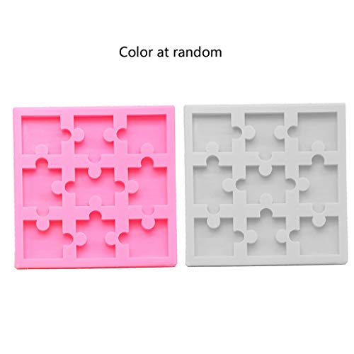 Y-YUNLONG Puzzle Piece Resin Mold Silicone Puzzle Crayons Maker Silicone Mold Art Crafts