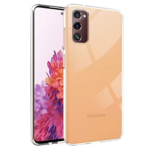 deconext Transparente Funda Galaxy S20 FE, Carcasa Suave TPU Gel Ultra Fina Protección a Bordes Cover Flexible y Ligero para Samsung Galaxy S20 FE(2020) 6,5' (2020)