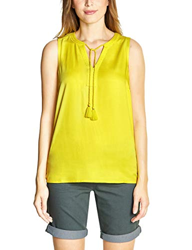 CECIL Damen 341450 Bluse per pack Gelb (lemon drop 11669), X-Large (Herstellergröße:XL)