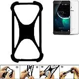 K-S-Trade® Handyhülle Für Blackview E7 Schutz Hülle Silikon Bumper Cover Case Silikoncase TPU Softcase Schutzhülle Smartphone Stoßschutz, Schwarz (1x),