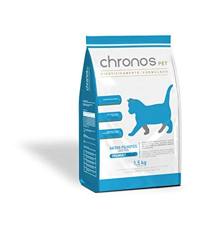 Ração Chronos Pet Gatos Super Premium Filhotes Sabor Frango 1,5kg Chronos Raça Filhotes, Sabor Frango