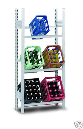 Hofe PROFI Getränkekistenregal für 6 Kisten, 175x81x34 cm   Getränkekistenhalter aus metall   Getränkekistenständer   Kistenständer für Getränke   Kistenhalter   Kistenregal   Getränkeregal