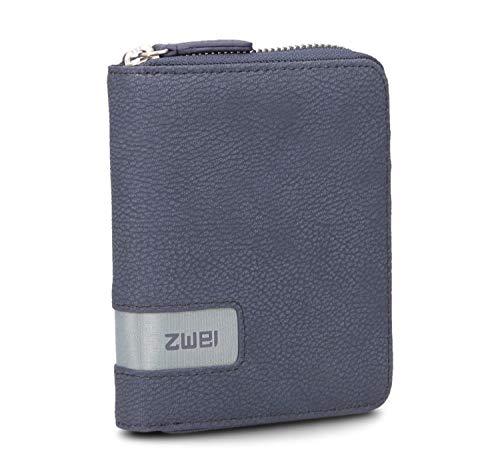 zwei Mademoiselle MW10 Wallet Börse 13 cm Nubuk-Blue